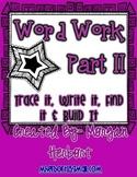 D'nealian Font --Sight Words Work Pt. 2