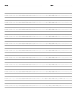 D'nealian writing paper front and back