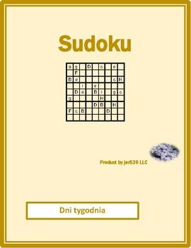 Dni tygodnia Days of the week in Polish Sudoku