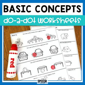 Do-A-Dot Basic Concepts Worksheets
