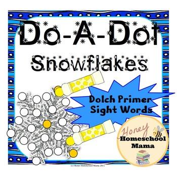 Do-A-Dot, Bingo Marker Activity, Dolch Primer Sight Words
