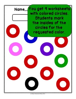 Do-A-Dot Color Worksheets - Practice Colors With Fun Do-A-Dot Markers!