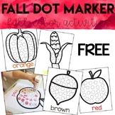 Dot Marker Fall Activity Sheets *FREEBIE*