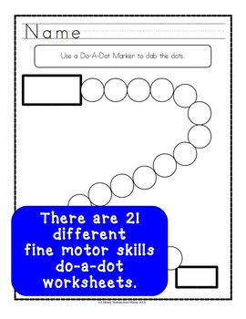 Do-A-Dot Fine Motor Skills Worksheets Practice with Letters, Numbers, and Shapes