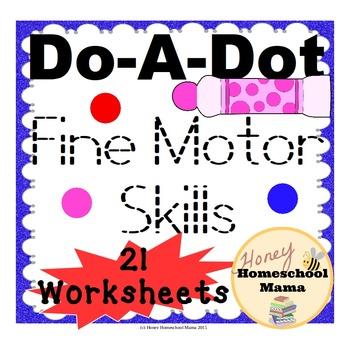 Do-A-Dot Fine Motor Skills Worksheets Practice with Letter