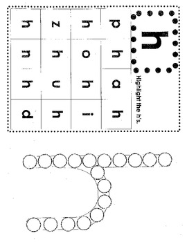 Do-A-Dot & Highlight Lowercase Letters