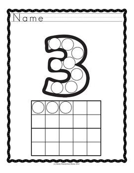 Do-A-Dot, Number Set, 2 Worksheet Sets - Numbers, Number Words, and 10 Frames