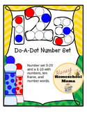 Do-A-Dot, Number Set, 2 Worksheet Sets - Numbers, Number Words, and 10 Frames