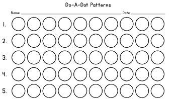 Do-A-Dot Pattern Blanks