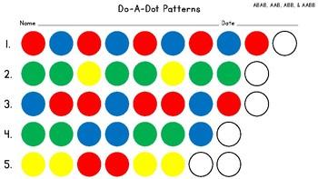 Do-A-Dot Patterns Worksheet
