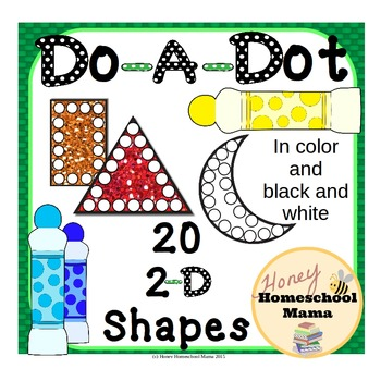 Do-A-Dot, Shapes Set 1, Use a Bingo Marker to Learn Lots of Shapes