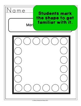 Do-A-Dot, Shapes Set 1, Use a Bingo Marker to Learn Lots of Shapes