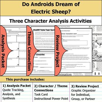 Do Androids Dream of Electric Sheep? Character Analysis Packet, Theme, & Project