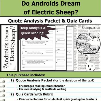 Do Androids Dream of Electric Sheep? - Quote Analysis & Reading Quizzes