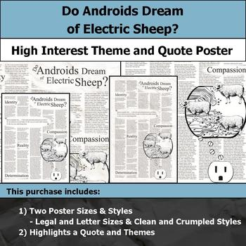 Do Androids Dream of Electric Sheep? - Theme & Quote Poster for Bulletin Boards