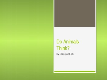 Do Animals Think? Vocabulary