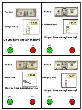 Do I Have Enough? FREEBIE Money task cards