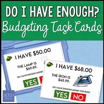 Do I Have Enough? Task Cards Set
