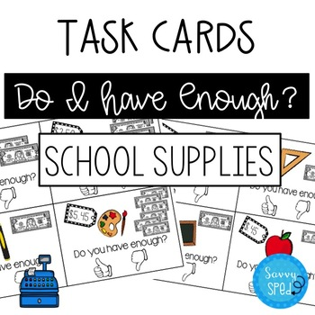 Do I Have Enough? School Supplies Dollar Up Activity