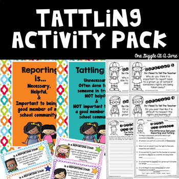 Do I Need To Tell The Teacher? Activity Pack