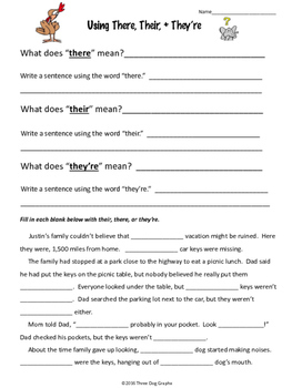 There, Their, or They're? Homophones PowerPoint Lesson + Worksheets