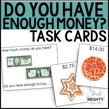 Do I have enough money? Task Card Activity for Money Skills