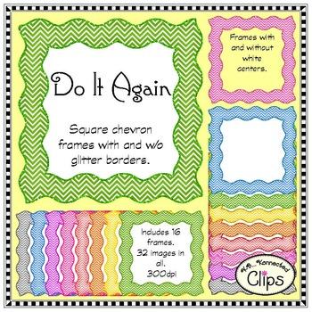 Do It Again - Square Chevron Frame Collection - Clip Art