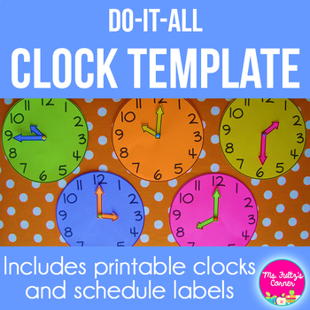 photo relating to Clock Template Printable identified as Clock Template Worksheets Instruction Materials TpT