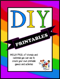 Do It Yourself - MEGA PACK of Clipart, Tutorials and MORE!