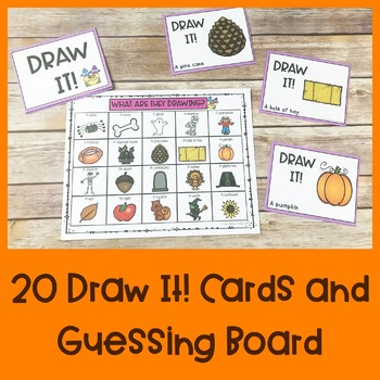 Do It! or Draw It! Fall Game | Special Education and Autism Resource