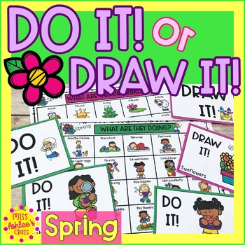 Do It! or Draw It! Spring Game | Special Education and Autism Resource