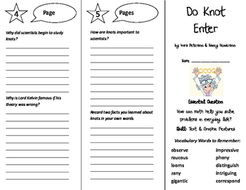 Do Knot Enter Trifold - Journeys 6th Grade Unit 2 Week 2