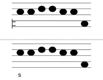 Do Mi So La Melodic Flashcards (Kodaly Classroom)