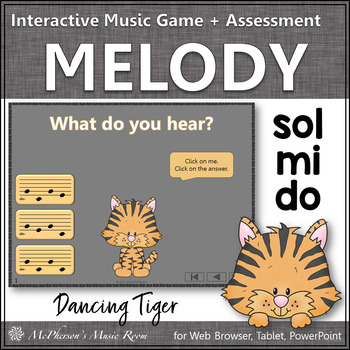 Do Mi Sol Interactive Melody Game and Assessment {Dancing Tiger}