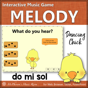 Do Mi Sol Interactive Music Game {Dancing Chick}