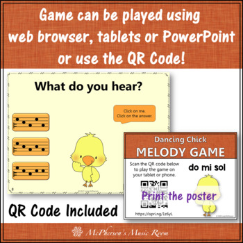 Spring Music Game: Do Mi Sol Interactive Melody Game {Dancing Chick}