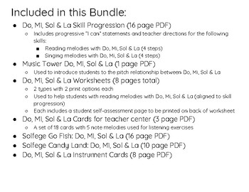 Do, Mi, Sol & La Center Bundle