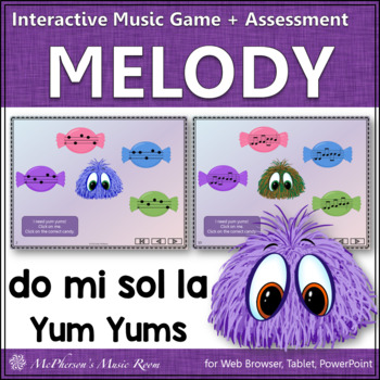 Do-Mi-Sol-La Yum Yums Interactive Melody Game + Assessment