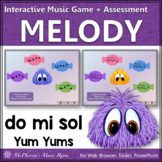 Solfege   Do Mi Sol Interactive Melody Game + Assessment {Yum Yums}