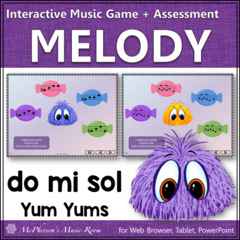 Do-Mi-Sol Yum Yums Interactive Melody Game + Assessment