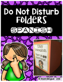 Do Not Disturb Folder {SPANISH}