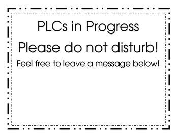 Do Not Disturb: PLCs