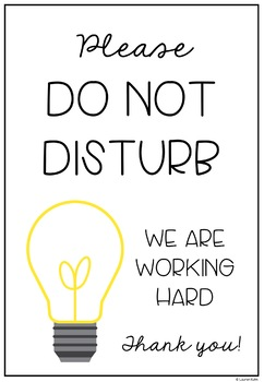 Do Not Disturb Posters