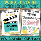 Do Not Disturb Signs - Distance Learning