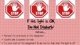 Do Not Disturb! Small group sign