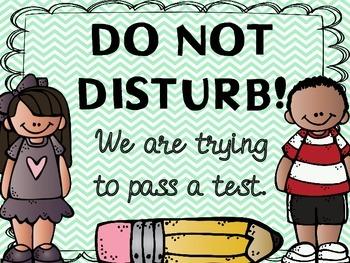 Do Not Disturb Testing Signs