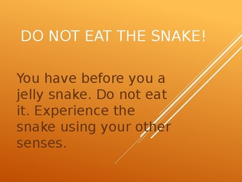 Do Not Eat the Snake Creative Writing Lesson