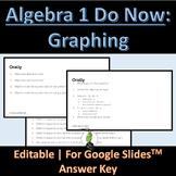 Do Now Algebra 1 Graphing Unit Google Slides