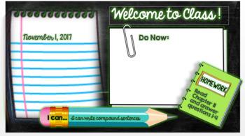 Do Now/Bell Ringer - Editable PowerPoint