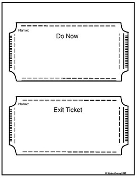 Do Now & Exit Tickets